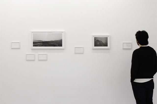 vue d'exposition à la galerie Espace projet, © Martin Guimont, 2015