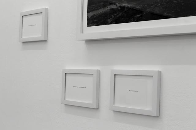 vue d'exposition à la galerie Espace projet (détail), © Martin Guimont, 2015